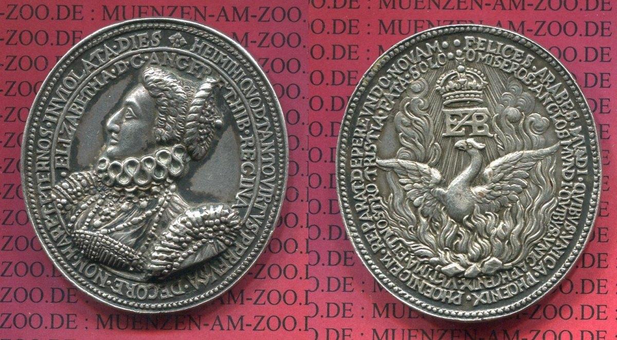 medaillon silber gu silver cast nach 1820 england great britain ovale medaille elisabeth i o. Black Bedroom Furniture Sets. Home Design Ideas